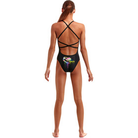 Funkita Strapped In Swimsuit Girls, negro/Multicolor